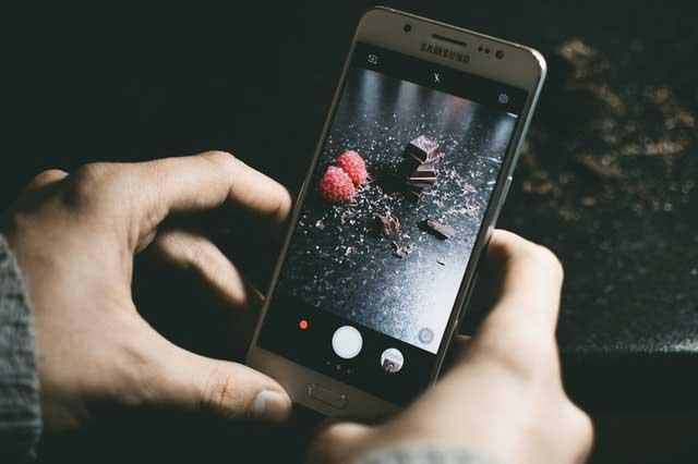 Hacer fotos con celular