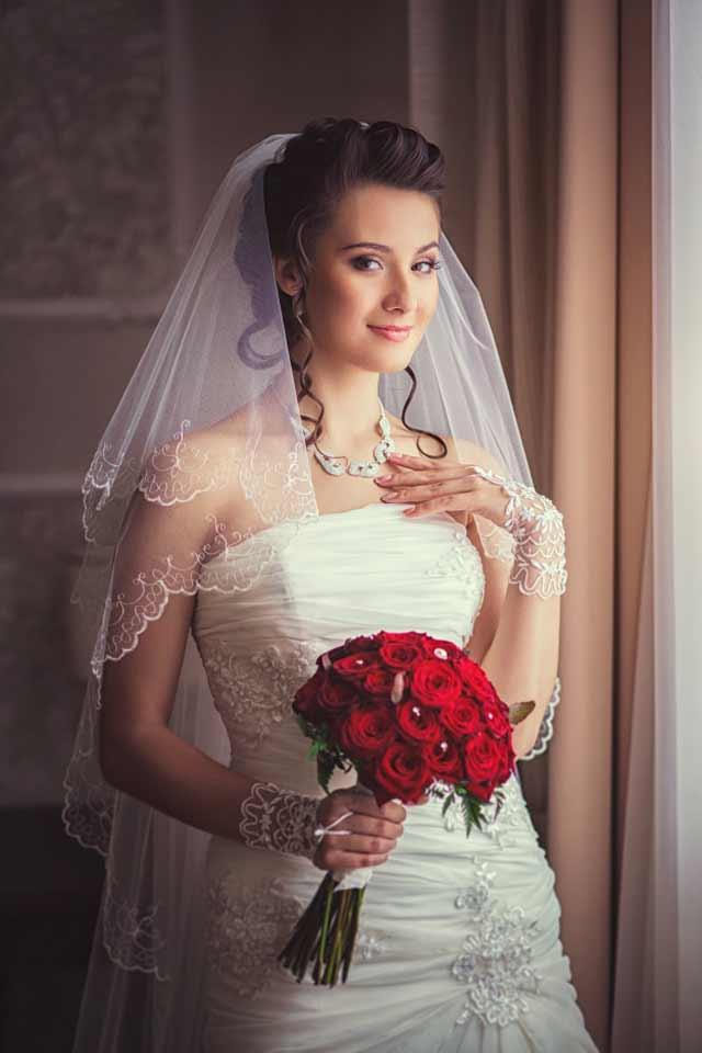 vestido de novia retrato