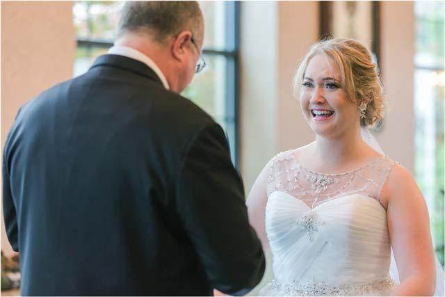 Primera vista del padre a la novia