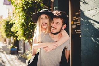 enamorados felices