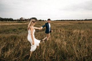 foto de pareja en el campo