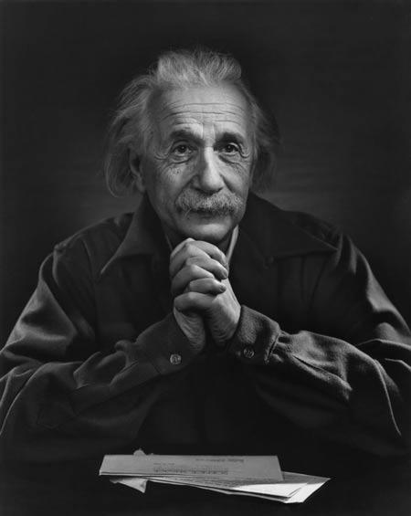 Albert Einstein fotografiado por Yousuf Karsh