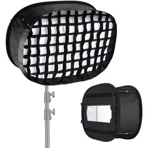 softbox con rejilla para led